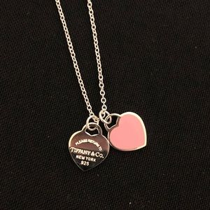 Tiffany & Co Mini Hearts Pink Silver 925